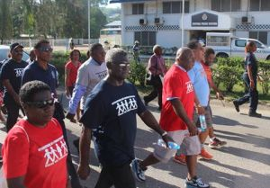 PM Hon Manasseh Sogavare joined the walk this morning.